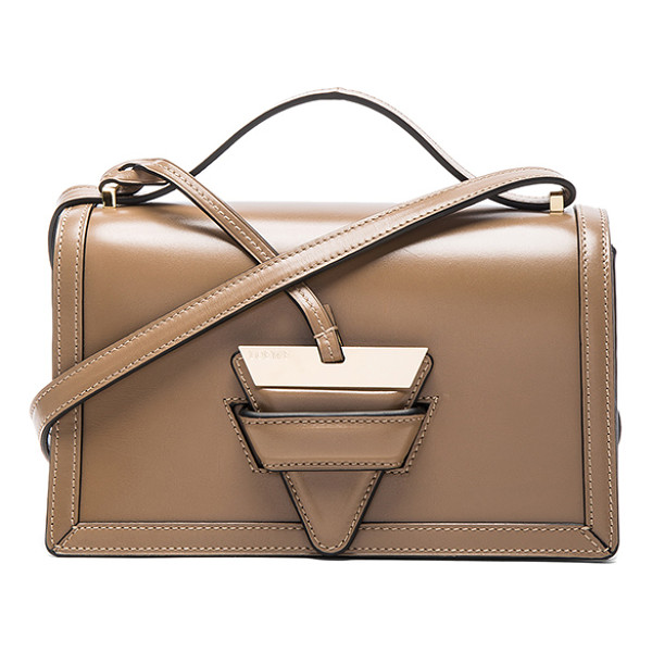 LOEWE Barcelona Shoulder Bag - Calfskin leather with leather lining and gold-tone...