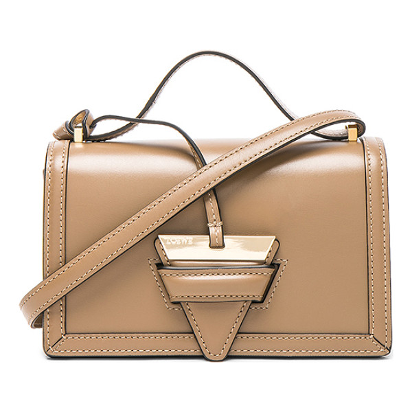 LOEWE Barcelona Small Bag - Calfskin leather with leather lining and gold-tone