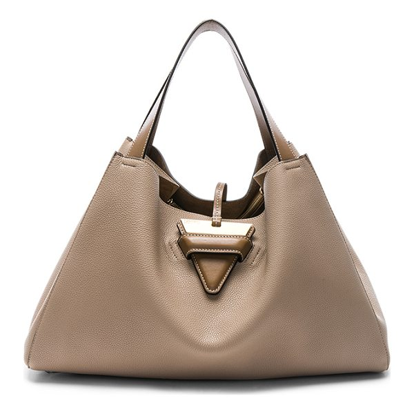 LOEWE Barcelona Tote Bag - Calfskin leather with raw lining and gold-tone hardware....