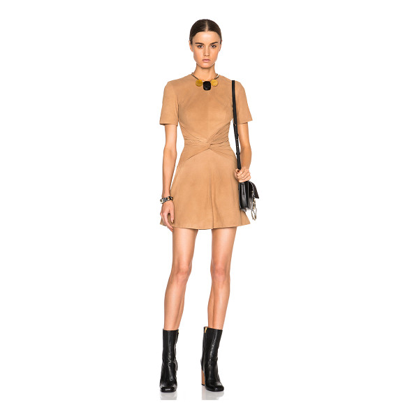 LOVER Lando mini dress - Self: 100% suede - Lining: 100% poly.  Made in China. ...