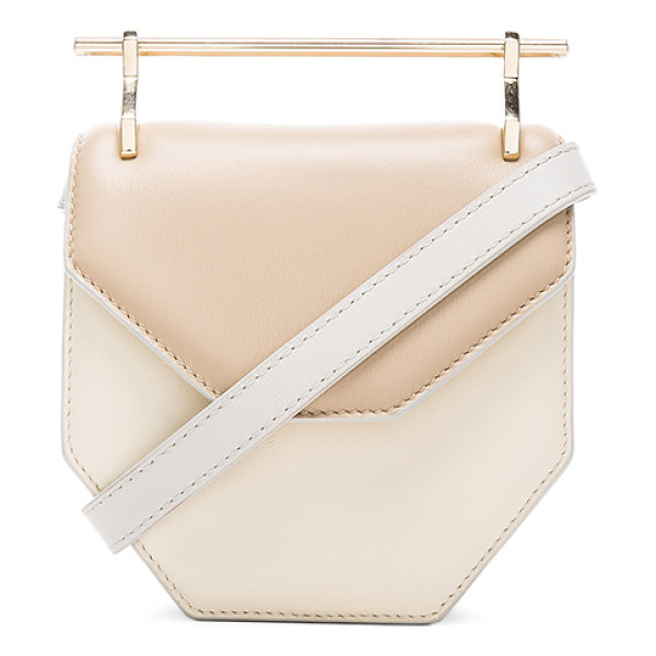 M2MALLETIER Mini amor fati bag - Calfskin leather with leather lining and silver-tone...