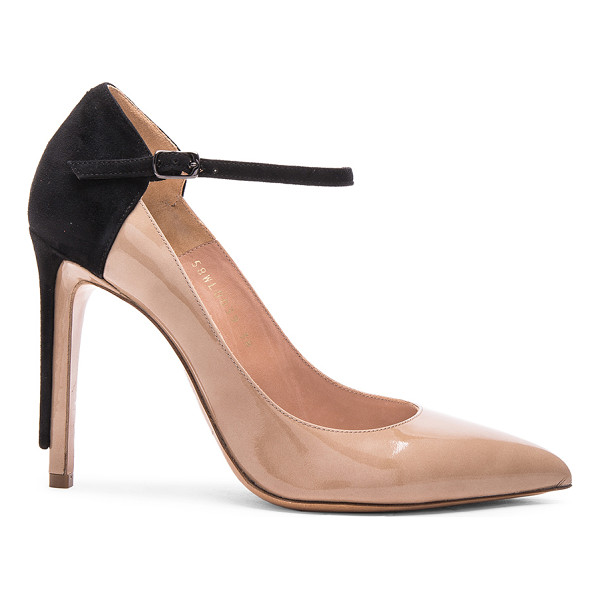 MAISON MARGIELA Ankle strap patent leather heels - Patent leather upper with leather sole.  Made in Italy. ...