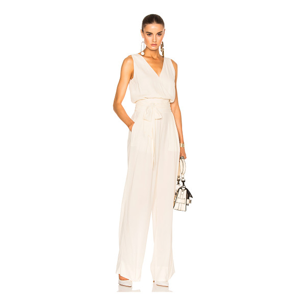 MAISON MARGIELA Crepe Sable Jumpsuit - 98% viscose 2% elastan. Made in Italy. Dry clean only....