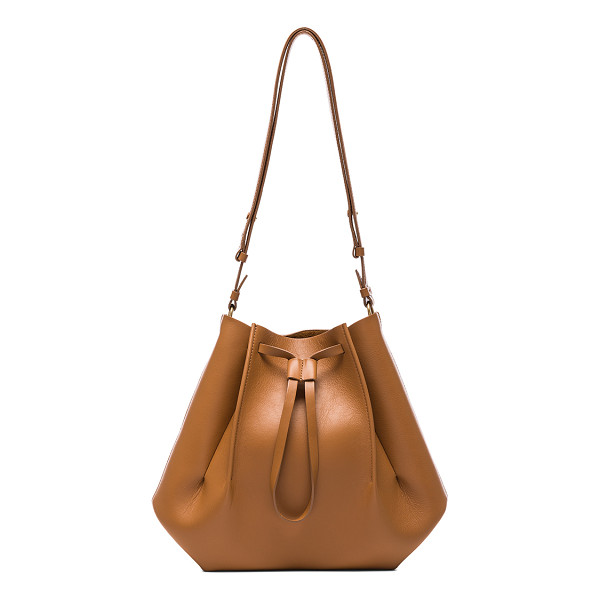 MAISON MARGIELA Large Bucket Bag - Genuine leather with raw lining and silver-tone hardware.