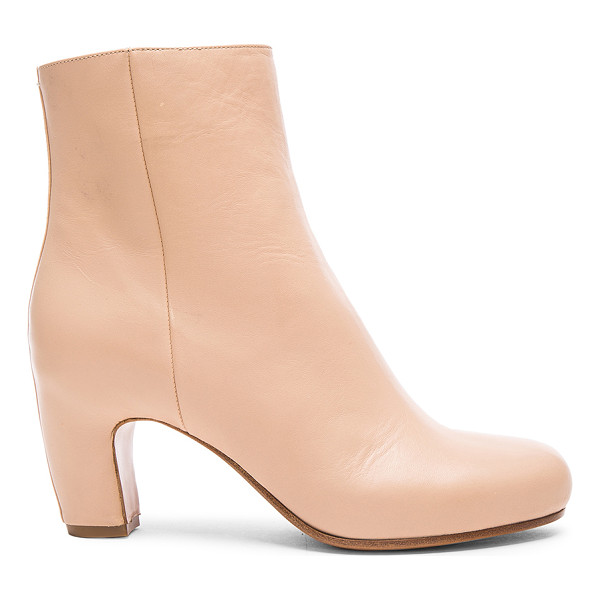MAISON MARGIELA Leather booties - Leather upper and sole.  Made in Italy.  Shaft measures...