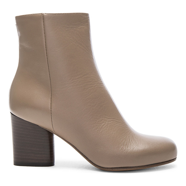 MAISON MARGIELA Leather Booties - Leather upper and sole.  Made in Italy.  Shaft measures