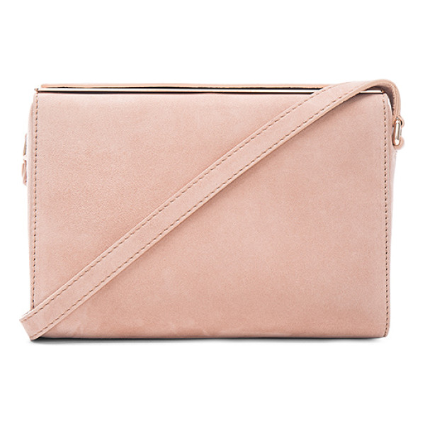 MAISON MARGIELA Messenger bag - Genuine suede with raw lining and rose gold-tone hardware. ...