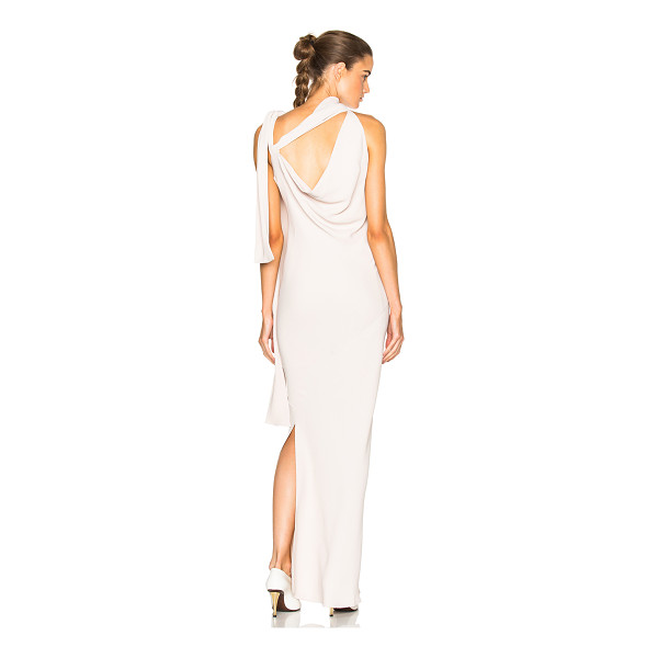 MAISON MARGIELA Opaque Cady Gown -  - Self: 65% acetate 35% silk - Lining: 54% acetate 26%...
