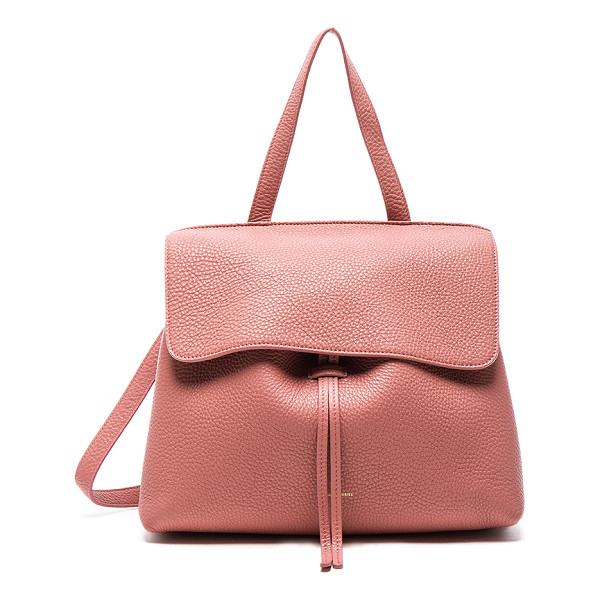 MANSUR GAVRIEL Lady Bag - Tumbled grained leather with canvas lining and gold-tone...