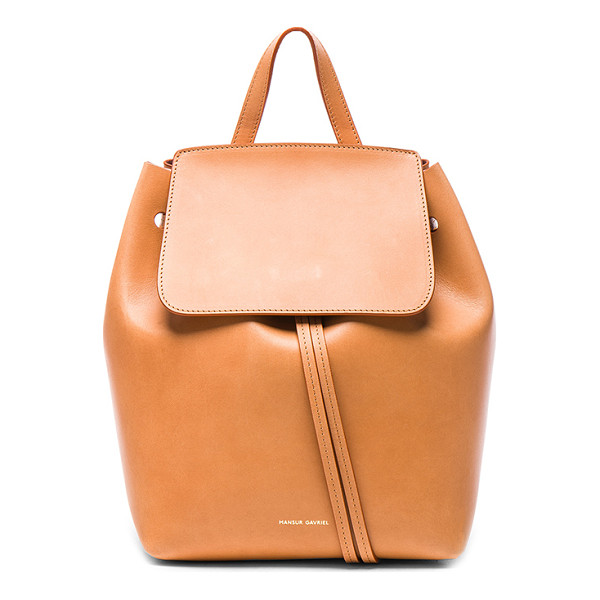 "MANSUR GAVRIEL Mini Backpack - ""Vegetable tanned leather with pink matte leather lining..."