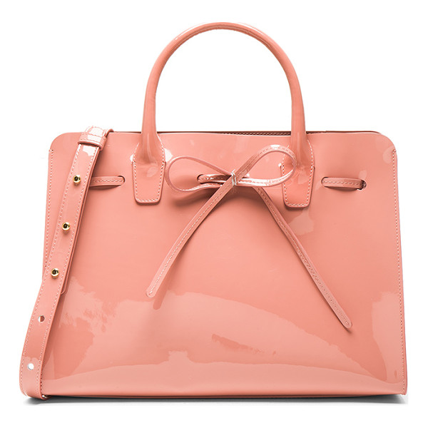MANSUR GAVRIEL Sun Bag - Italian patent leather with matte patent leather lining and...
