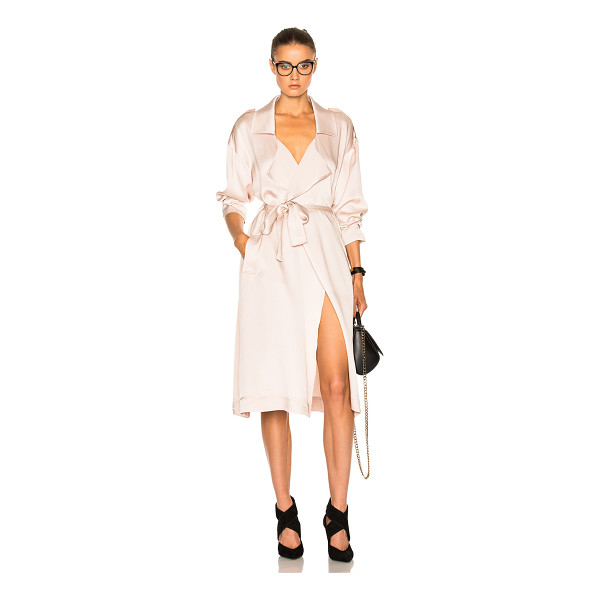 MARISSA WEBB Corey Satin Crepe Overcoat - 72% acetate 28% rayon.  Made in China.  Dry clean only. ...
