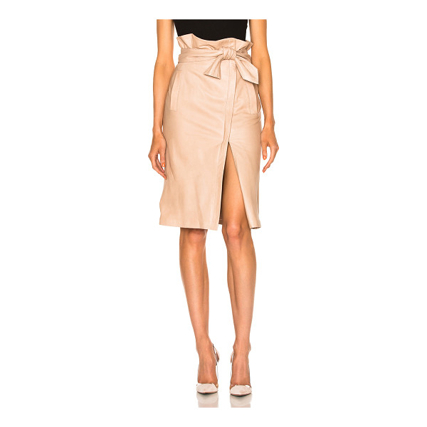MARISSA WEBB Ella Leather Skirt - Genuine leather.  Made in China.  Professional leather...