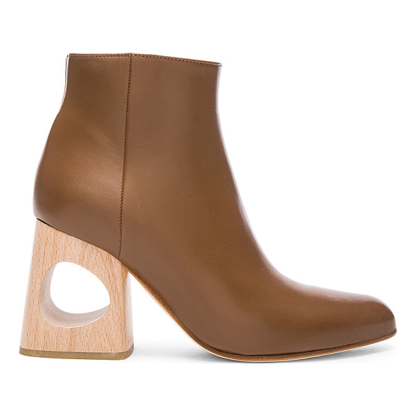 MARNI Ankle Boots - Leather upper and sole. Made in Italy. Approx 75mm/ 3 inch...