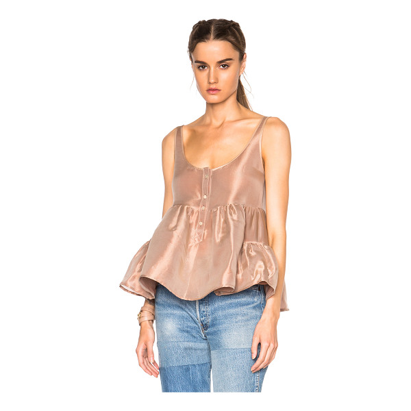 MARYAM NASSIR ZADEH Ilaria tank top - 42% cotton 30% silk 28% poly.  Made in USA.  Button front...