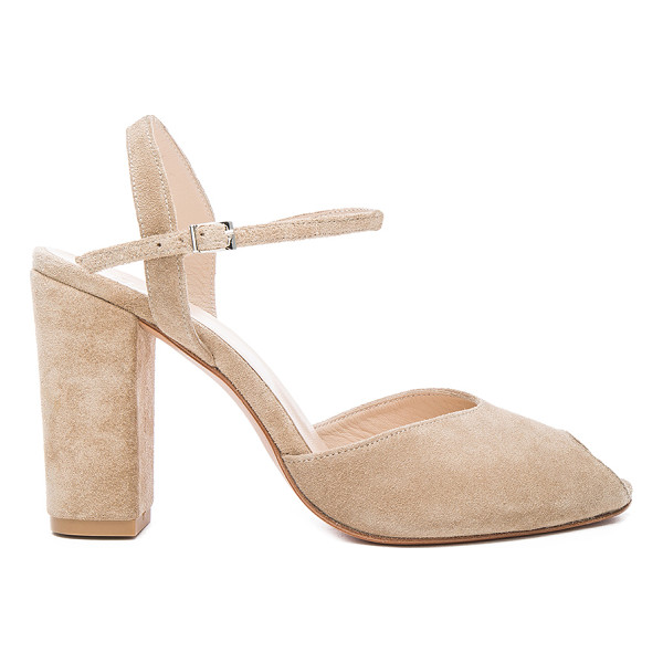 MARYAM NASSIR ZADEH Suede Iris Heels - Suede upper with leather sole.  Made in Turkey.  Approx