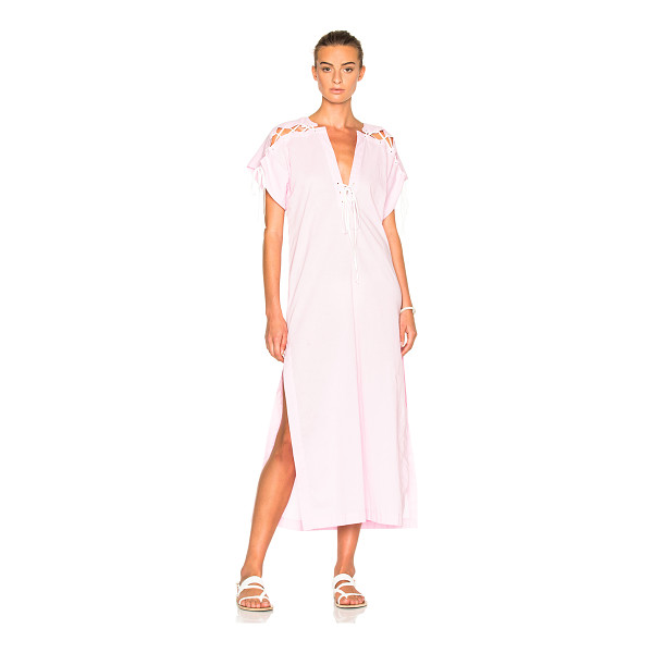 MARYSIA SWIM FWRD Exclusive Caftan Dress - 100% cotton. Made in China. Unlined. Lace up detail on...