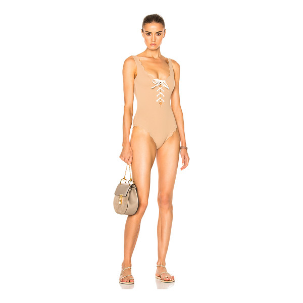 MARYSIA SWIM Palm Springs Tie Swimsuit - 88% polyamide 12% elastan.  Made in China.  Hand wash.