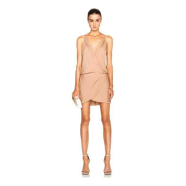 MASON BY MICHELLE MASON Cami wrap silk mini dress - Self & Lining: 100% silk.  Made in China.  Partially lined....