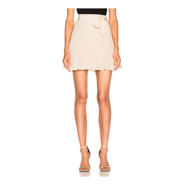 MICHELLE MASON Ruffle Mini Skirt - Self & Lining: 100% silk. Made in USA. Dry clean only....