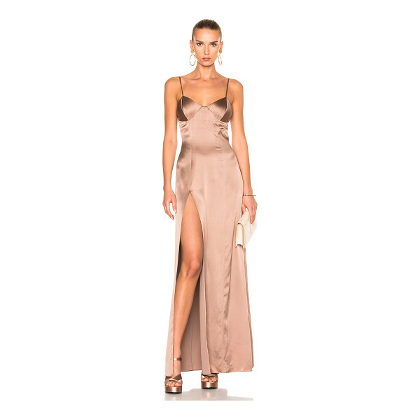 MICHELLE MASON x FWRD Exclusive Bustier Gown - Self & Lining: 95% silk 5% lycra.  Made in China.  Dry...