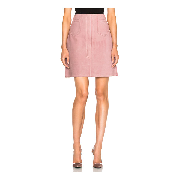 M.I.H JEANS Coda Skirt - 100% cow leather.  Made in Turkey.  Professional leather...