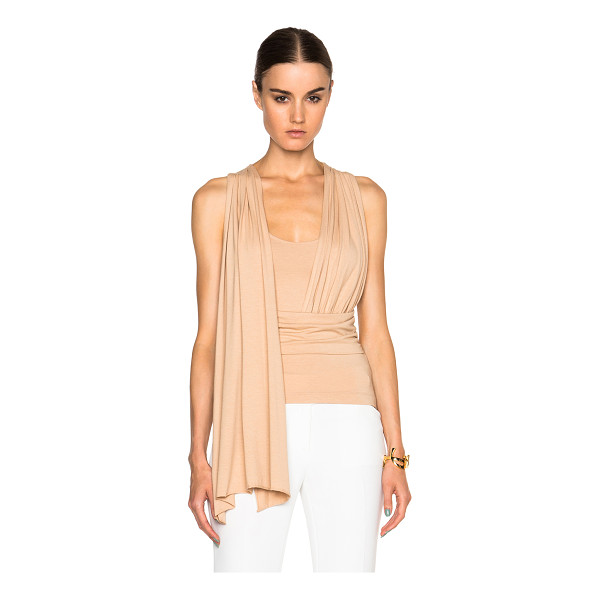 MM6 MAISON MARGIELA Stretch jersey top - 96% viscose 4% elastan.  Made in Italy.  Fabric overlay...