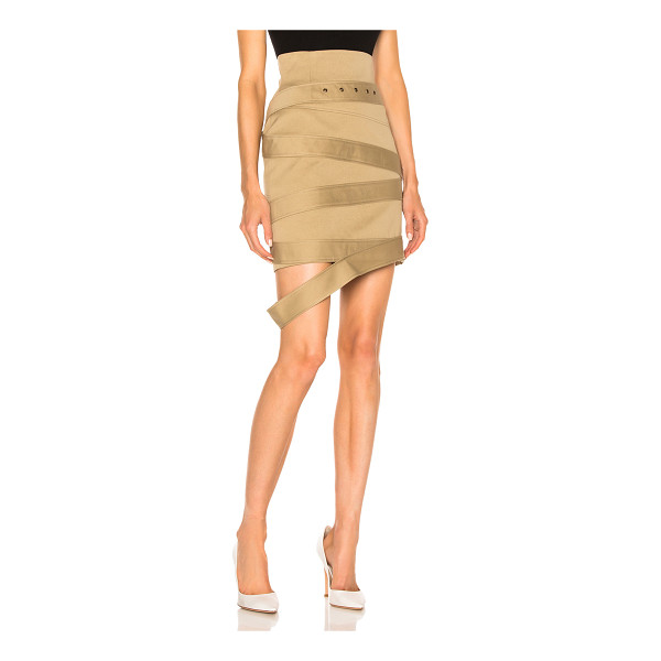 MONSE Cotton Canvas Skirt - Self & Lining: 100% cotton.  Made in Italy.  Dry clean...