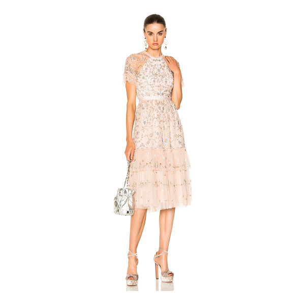NEEDLE & THREAD Constellation Lace Dress - Self: 100% nylon - Lining: 100% poly.  Made in India.  Dry...