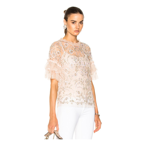 NEEDLE & THREAD Constellation Lace Top - Self: 100% nylonLining: 100% poly. Made in India. Dry clean...