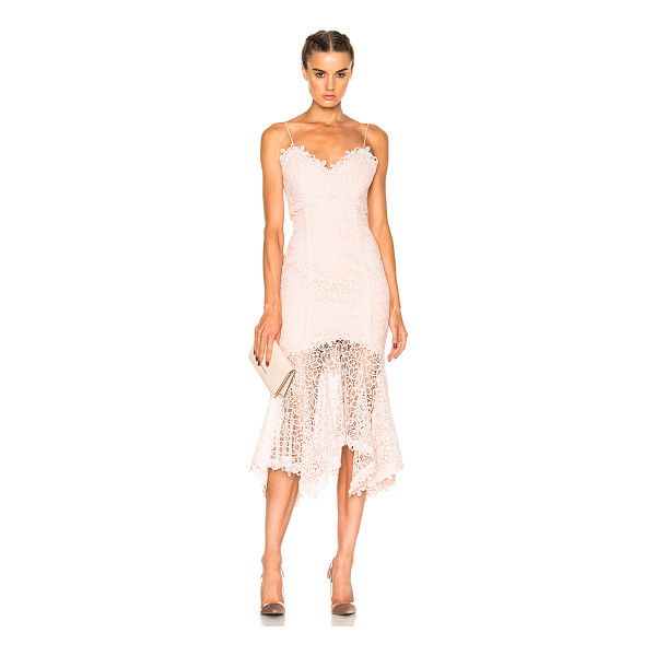 NICHOLAS Guipure Lace Cocktail Dress - Self & Contrast Fabric: 100% poly - Lining: 95% poly 5%...