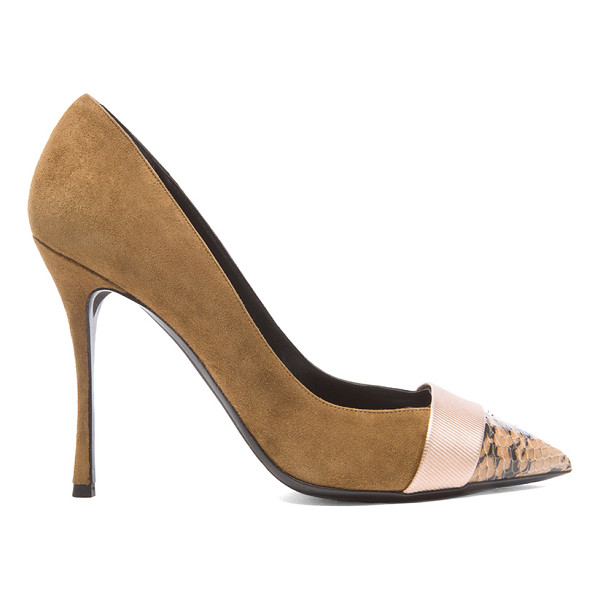 NICHOLAS KIRKWOOD Triband suede pumps - Suede upper with leather sole.  Made in Italy.  Approx...