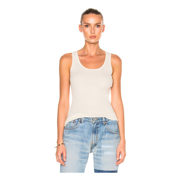 NILI LOTAN Robyn Tank - 85% cotton 15% cashmere. Made in China. Dry clean only. Rib...