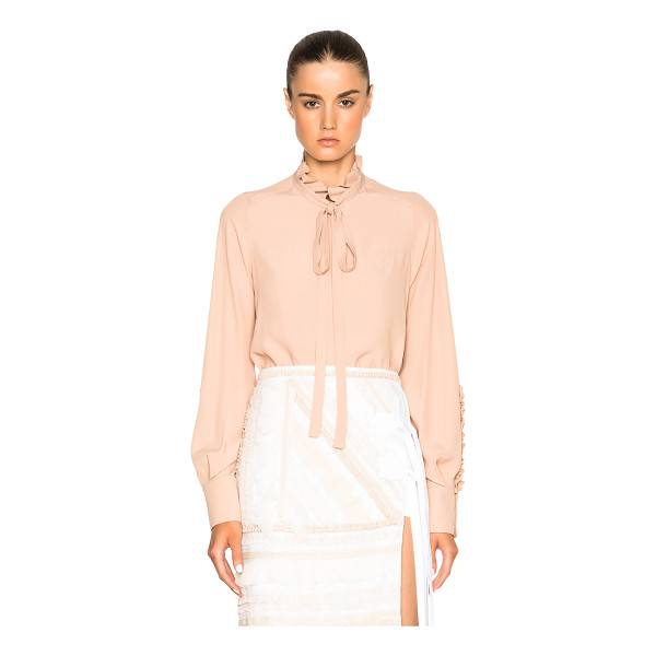 NO. 21 Crepe De Chine Button Top - With a keen eye for trends of the moment, No. 21 offers a...