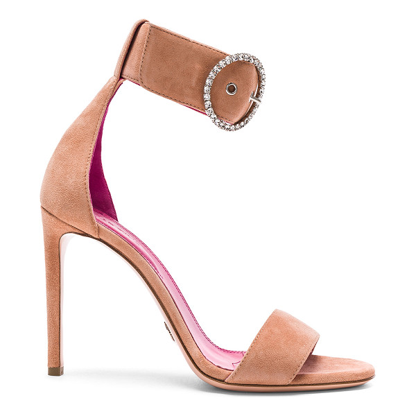 OSCAR TIYE Erica Sandals - Suede upper with leather sole.  Made in Italy.  Approx...