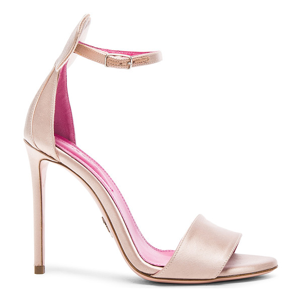 OSCAR TIYE Minnie Satin Sandals - Satin upper with leather sole.  Made in Italy.  Approx...
