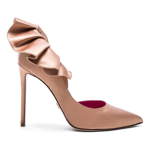 OSCAR TIYE Satin Adele Pumps - Satin upper with leather sole. Made in Italy. Approx 115mm/