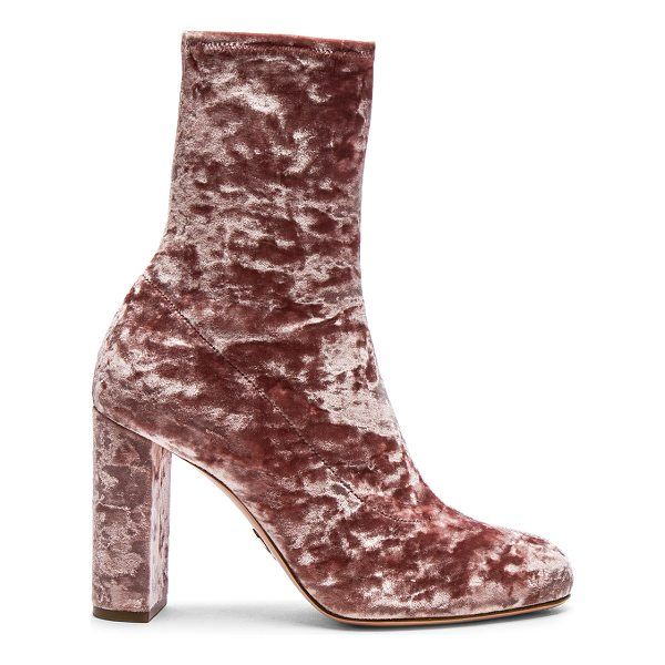 OSCAR TIYE Velvet Giorgia Boots - Stretch velvet upper with leather sole.  Made in Italy. ...