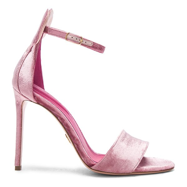 """OSCAR TIYE Velvet Minnie Sandals - """"Velvet upper with leather sole.  Made in Italy.  Approx..."""