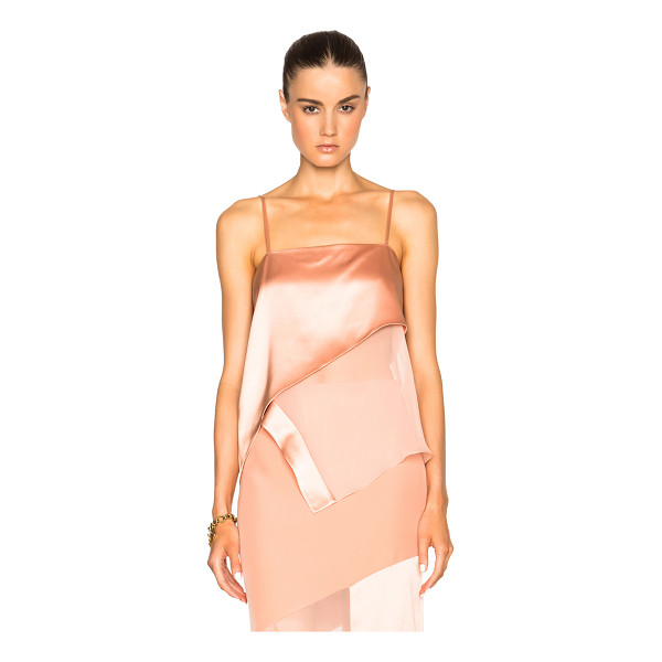 PRABAL GURUNG Charmeuse Tank - 100% silk.  Made in USA.  Hidden side zip closure.  Fabric...