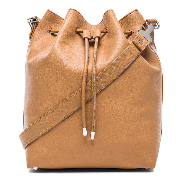 PROENZA SCHOULER Large bucket bag with metallic leather - Leather with crinkled metallic leather lining and...