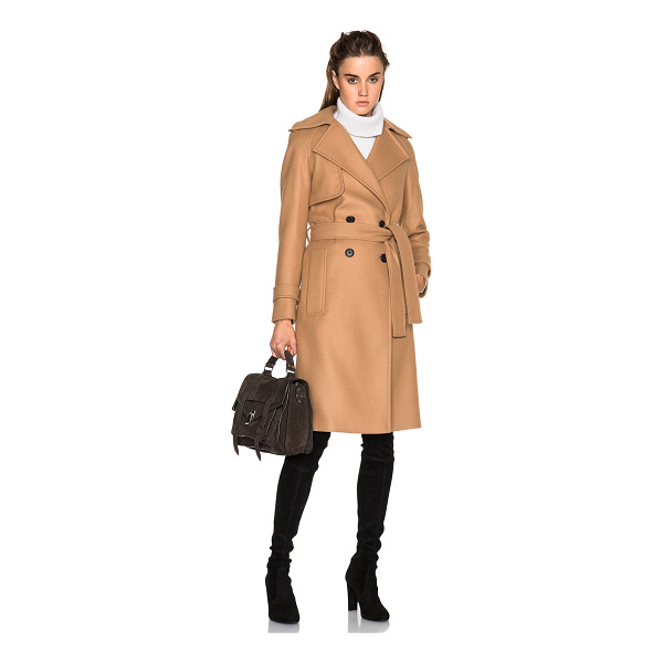PROENZA SCHOULER Long double breasted coat - Self: 74% wool 19% nylon 7% cashmere - Lining: 66% cupro...