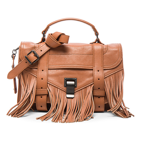 PROENZA SCHOULER Tiny fringe ps1 bag - Genuine leather with fringe detail features signature...
