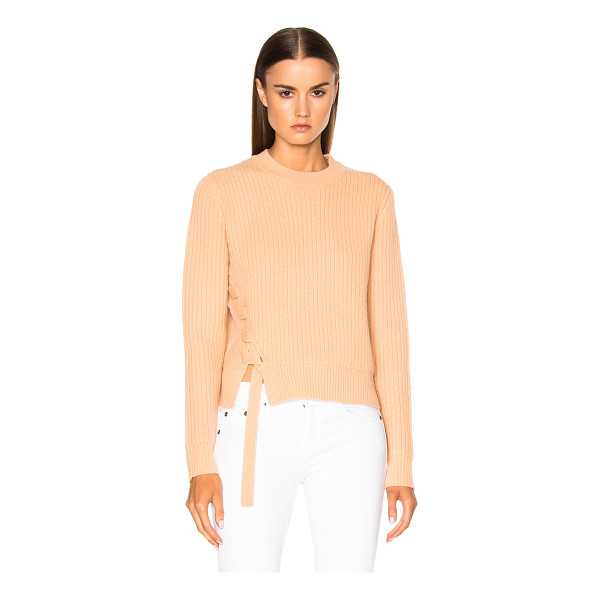 PROENZA SCHOULER Wool Cashmere Side Lacing Sweater - 76% wool 20% cashmere 4% elastan. Made in China. Dry clean...