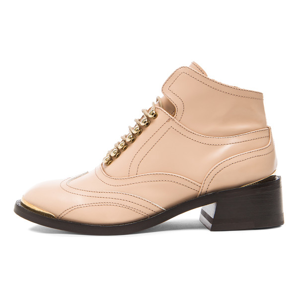PURIFIED Leather patti 9 - Leather upper and sole.  Made in Portugal.  Approx 40mm/...
