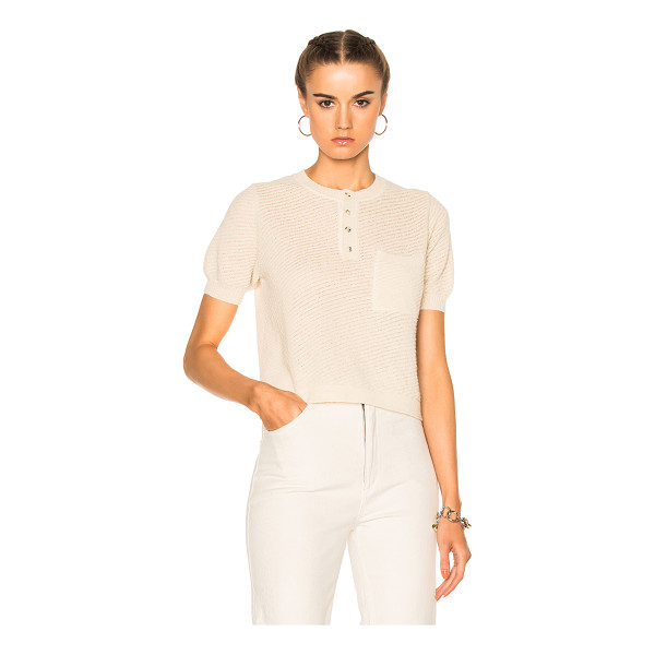 RACHEL COMEY Canela Top - 100% baby alpaca. Made in Peru. Hand wash. Knit fabric....
