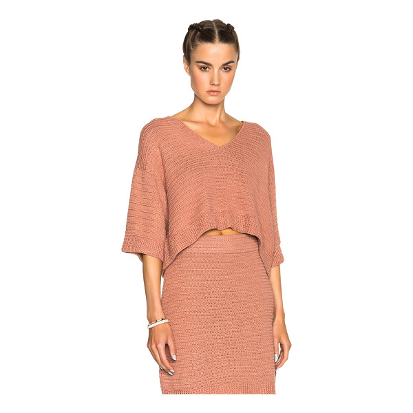 RACHEL COMEY Coloma top - 100% cotton.  Made in Peru.  Knit fabric.