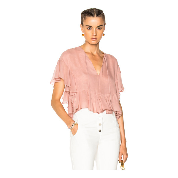 RACHEL COMEY Floater Top - Self: 100% silk - Lining: 100% poly.  Made in USA.  Dry...