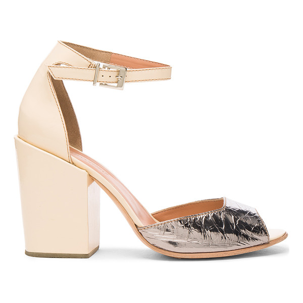 RACHEL COMEY Leather Coppa Sandals - Leather upper and sole. Made in Peru. Approx 100mm/ 4 inch...