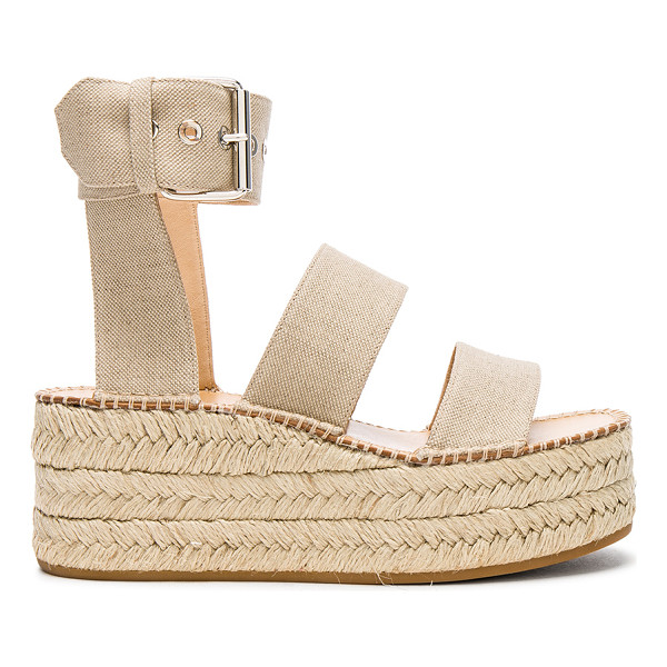 RAG & BONE Canvas Tara Sandals - Canvas upper with rubber sole.  Made in Italy.  Shaft...